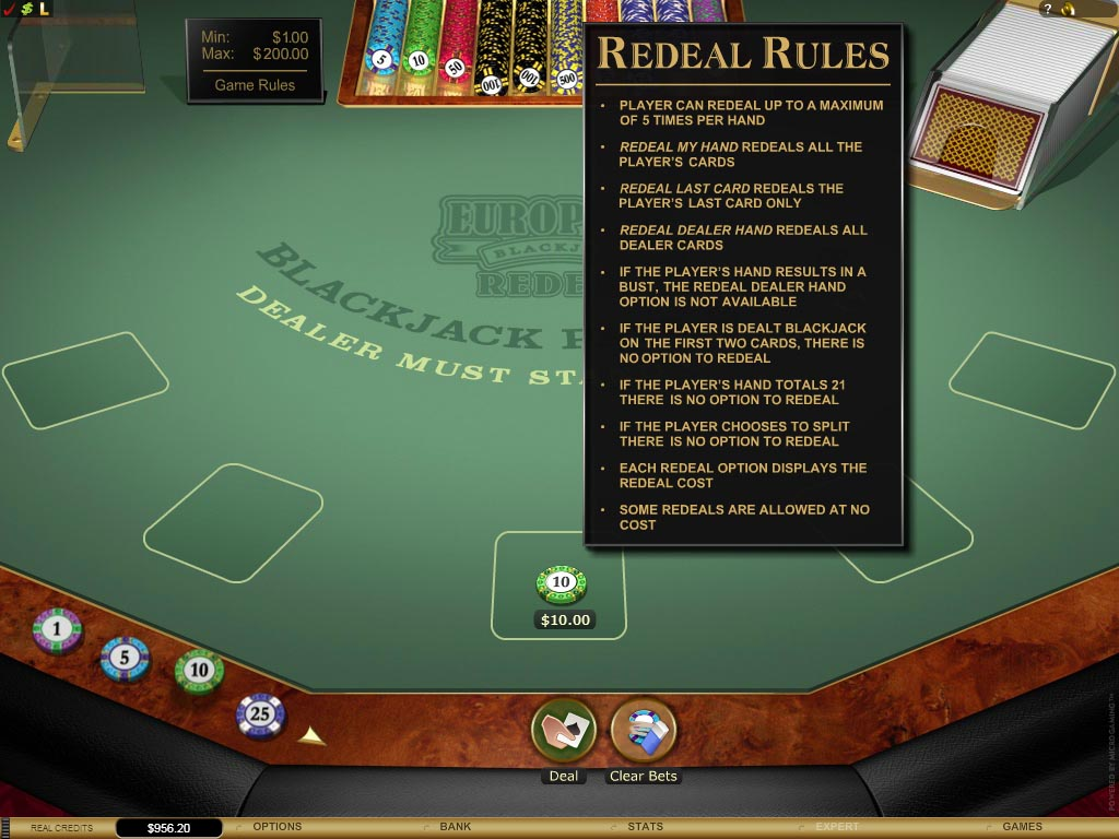 European Blackjack Redeal Gold Gives Baccarat Players an Easy Entrance into a New Game